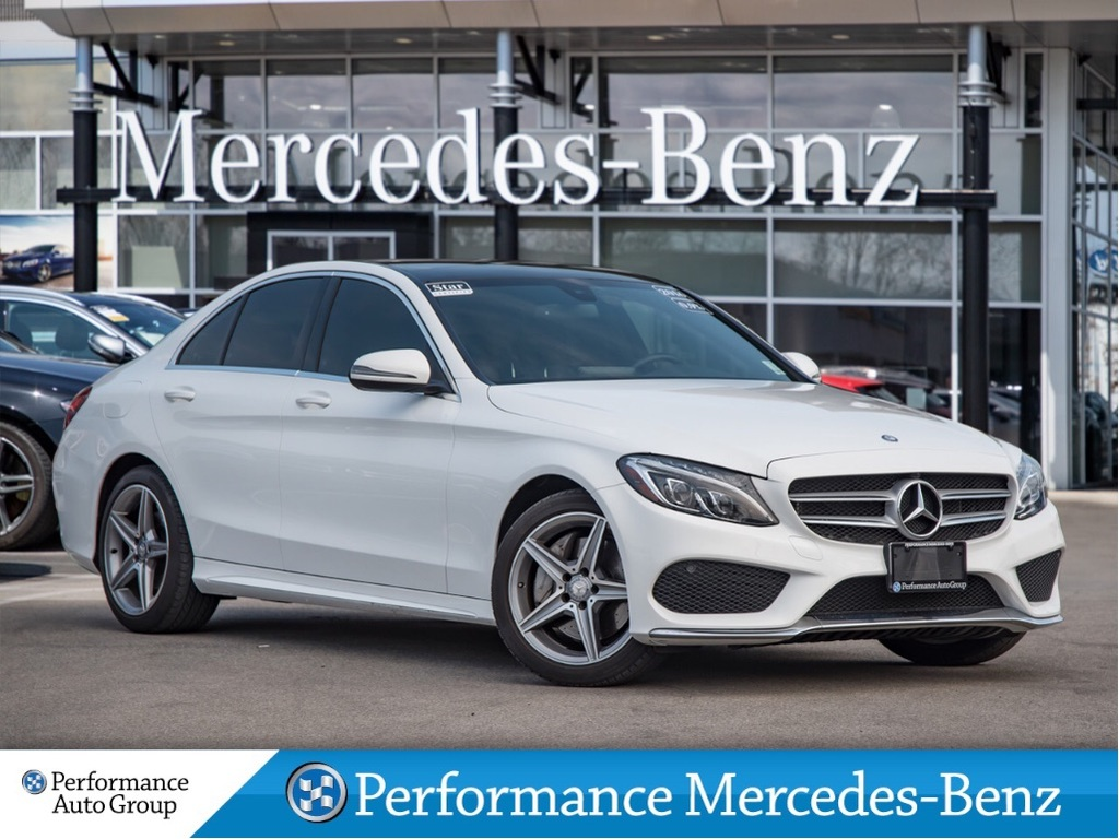 Certified Pre-Owned 2016 Mercedes-Benz C300 4MATIC Sedan *4MATIC*Nav+Sunroof+LEDs.+Heated Stee