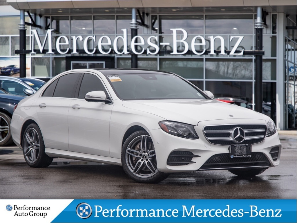 Certified Pre-Owned 2019 Mercedes-Benz E300 4MATIC Sedan 4MATIC+Nav+Sunroof+CarPlay+Surround S